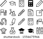 education vector icon set such...