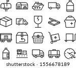 delivery vector icon set such as: image, depot, mail-box, moving, postal, square, internet, worker, tour, voyage, vacation, hand-truck, breakable, e-commerce, style, abstract, floating, call