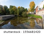 Headwaters of the Pader river in the city of Paderborn, Ostwestfalen-Lippe region, North Rhine-Westphalia, Germany, Europe
