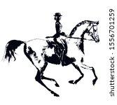 Hand Drawing Horse Rider Like...
