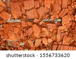 Orange Brick Pulp Of Old Bricks.