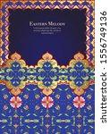 eastern ethnic motif ... | Shutterstock .eps vector #1556749136