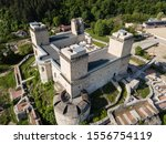 Aerial view to Diosgyor castle in the city of Miskolc, Hungary