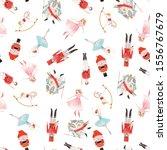 christmas fabulous kids pattern.... | Shutterstock . vector #1556767679