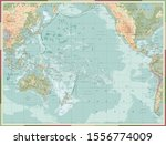 pacific ocean physical map old... | Shutterstock .eps vector #1556774009
