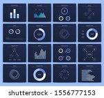 big set of infographics... | Shutterstock .eps vector #1556777153