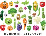 vegetables characters... | Shutterstock .eps vector #1556778869