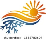 air conditioning and heating... | Shutterstock .eps vector #1556783609