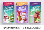 set of merry christmas and... | Shutterstock .eps vector #1556800580