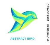 abstract bird in colorful tones ... | Shutterstock .eps vector #1556809580