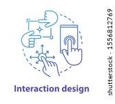 interaction design concept icon....