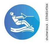 water skiing blue flat design... | Shutterstock .eps vector #1556814566