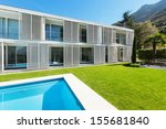 modern villa with pool  view... | Shutterstock . vector #155681840
