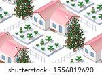 christmas winter seamless... | Shutterstock .eps vector #1556819690