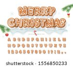 christmas gingerbread cookie... | Shutterstock .eps vector #1556850233