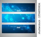 scientific set of modern... | Shutterstock .eps vector #1556850836