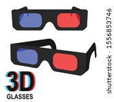 3d glasses text and effective... | Shutterstock .eps vector #1556853746