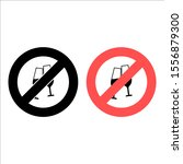 no glasses with champagne icon. ...