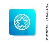 star on a circle round icon in...