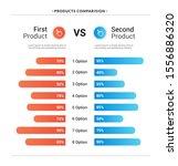 comparison table chart  vector...