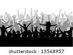 dancing people vector...   Shutterstock .eps vector #15568957