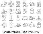 cleaning line icons. laundry ... | Shutterstock .eps vector #1556900249