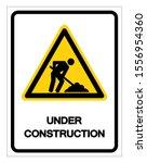 under construction symbol sign  ... | Shutterstock .eps vector #1556954360
