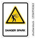 danger spark symbol sign ... | Shutterstock .eps vector #1556954363
