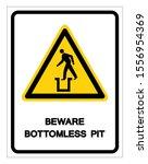 beware bottomless pit symbol... | Shutterstock .eps vector #1556954369