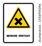 beware irritant symbol sign ... | Shutterstock .eps vector #1556954396
