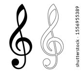 g clef musical icon vector... | Shutterstock .eps vector #1556955389