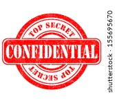 stamp of confidential vector | Shutterstock .eps vector #155695670