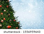 christmas tree with decoration  ...   Shutterstock . vector #1556959643