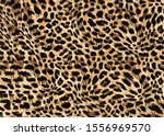 Brown And Black Leopard Skin...
