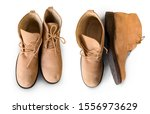 men s ankle boot isolated on... | Shutterstock . vector #1556973629
