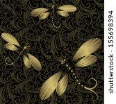 Seamless Dark Vintage Pattern...