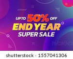 end year super sale poster... | Shutterstock .eps vector #1557041306
