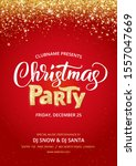 christmas party poster template.... | Shutterstock .eps vector #1557047669