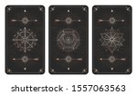 vector set of three dark... | Shutterstock .eps vector #1557063563