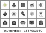 machine learning icons  such as ... | Shutterstock .eps vector #1557063950