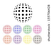 illustration of abstract dotted ... | Shutterstock . vector #155706428