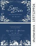 vector set of invitation cards... | Shutterstock .eps vector #1557129926
