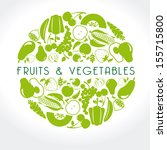 fruits and vegetables label... | Shutterstock .eps vector #155715800