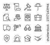 law and justice bold line icon... | Shutterstock .eps vector #1557163946