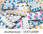 packings of pills and capsules... | Shutterstock . vector #155716589