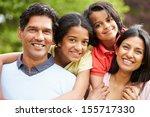indian family walking in... | Shutterstock . vector #155717330