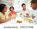 indian grandparents and... | Shutterstock . vector #155717348