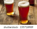 cool refreshing dark amber beer ... | Shutterstock . vector #155718989