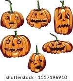 vector image of six different... | Shutterstock .eps vector #1557196910