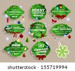 christmas decoration collection ... | Shutterstock .eps vector #155719994